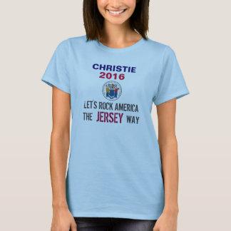 CHRISTIE 2016 Rock America The JERSEY Way T-Shirt