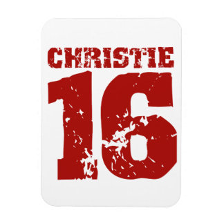CHRISTIE 2016 UNIFORM DISTRESSED -.png Rectangular Photo Magnet