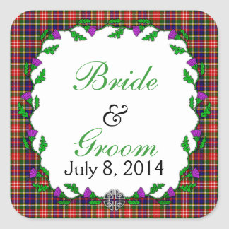 Christie Celtic Wedding Favor Square Sticker