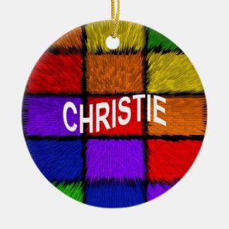 CHRISTIE CERAMIC ORNAMENT