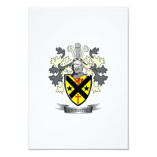 Christie Family Crest Coat of Arms Card