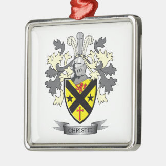 Christie Family Crest Coat of Arms Metal Ornament