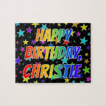 "[ Thumbnail: ""Christie"" First Name, Fun ""Happy Birthday"" Jigsaw Puzzle ]"