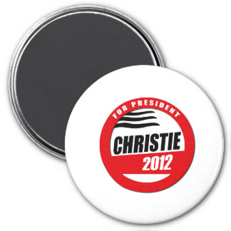 CHRISTIE FOR PRESIDENT BUTT 3 INCH ROUND MAGNET