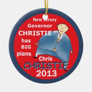 Christie Governor 2013 Ceramic Ornament
