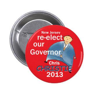 Christie Governor 2013 Pinback Buttons