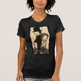 "Christie Hobbs--- Ladies basic Medium black ""Cast  T Shirt"