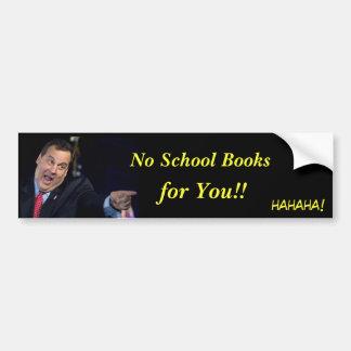 Christie-Ningunos libros de escuela Pegatina Para Auto