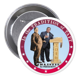 Christie para el presidente 2016 pin redondo 7 cm