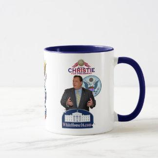 Christie para presidente Ringer Mug