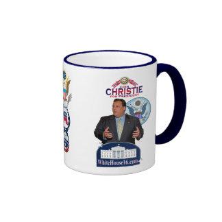 Christie para presidente Ringer Mug Tazas