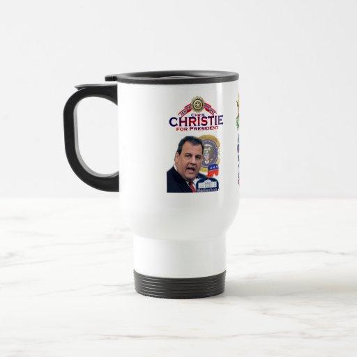 Christie para presidente Travel Mug Tazas De Café