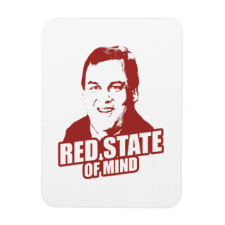 CHRISTIE RED STATE OF MIND -.png Rectangular Photo Magnet