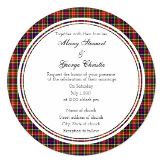Christie Scottish Wedding Round Invitation