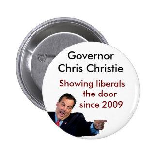 Christie Showing Liberals the Door Pinback Button
