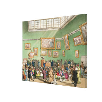 Christie's Auction Room, aquatinted by J. Bluck Canvas Prints