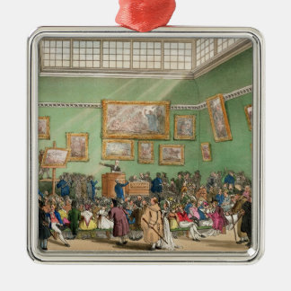 Christie's Auction Room, aquatinted by J. Bluck Christmas Ornaments