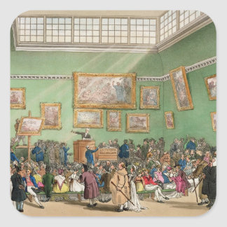 Christie's Auction Room, aquatinted by J. Bluck Stickers