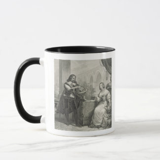 Christina (1626-89) Queen of Sweden, from a series Mug