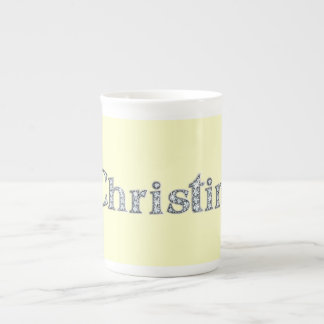 "Christina ""Diamond Bling"" Bone China Mug"