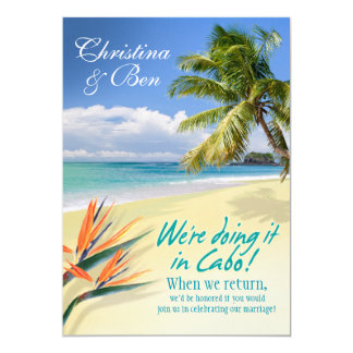 Christina EMERALD WATERS Cabo reception (linen) Card