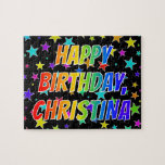 "[ Thumbnail: ""Christina"" First Name, Fun ""Happy Birthday"" Jigsaw Puzzle ]"