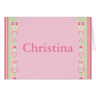 Christina Modern Circles Name Card - 369
