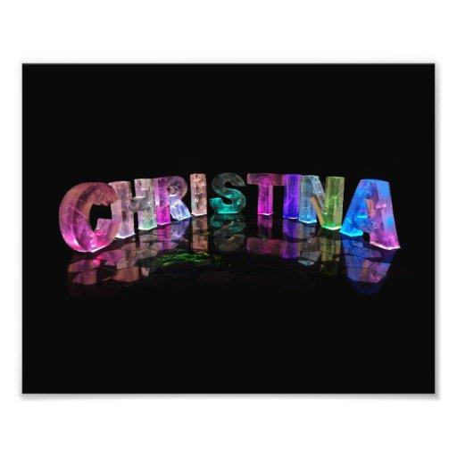 Christina - Modern Names in 3D Lights Photo Print