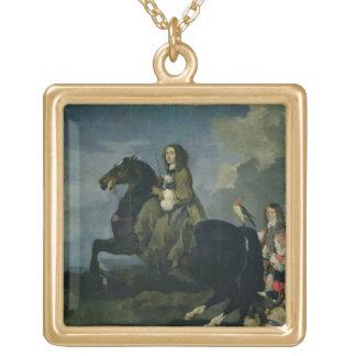 Christina of Sweden (1626-89) on Horseback, 1653 ( Gold Plated Necklace