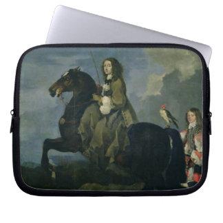 Christina of Sweden (1626-89) on Horseback, 1653 ( Laptop Computer Sleeves