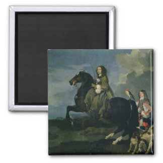 Christina of Sweden (1626-89) on Horseback, 1653 ( Magnet