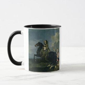 Christina of Sweden (1626-89) on Horseback, 1653 ( Mug