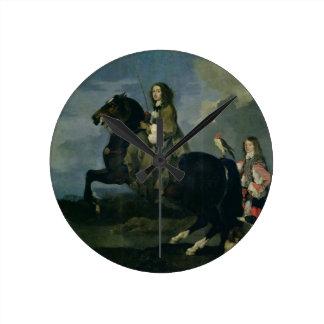 Christina of Sweden (1626-89) on Horseback, 1653 ( Round Clock