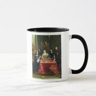 Christina of Sweden and her Court: detail of Mug