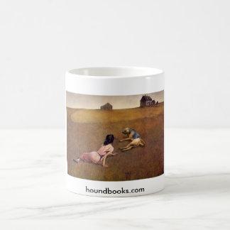 Christina's World With Wimsey the Bloodhound Coffee Mug