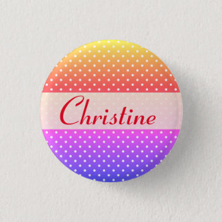 Christine name plate Anstecker Button