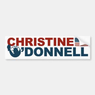 Christine O Donnell para la libertad Pegatina De Parachoque