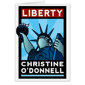 Christine O'Donnell 2010 American Liberty Greeting Card