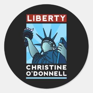 Christine O'Donnell 2010 American Liberty Classic Round Sticker