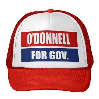 CHRISTINE O'DONNELL 2010 TRUCKER HATS