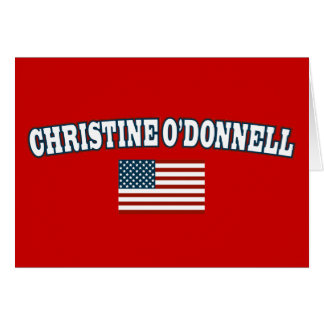 Christine O'Donnell for America Greeting Card