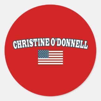Christine O'Donnell for America Classic Round Sticker