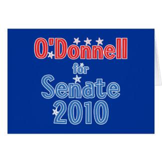 Christine O'Donnell for Senate 2010 Star Design Greeting Card