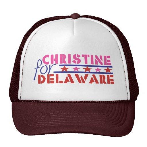 Christine O'Donnell para el senado de los E.E.U.U. Gorros Bordados