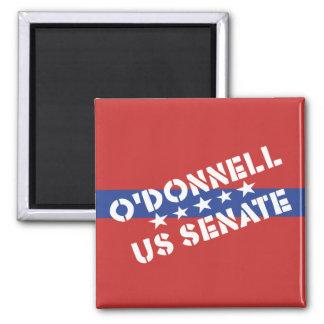 Christine O'Donnell para el senado de los E.E.U.U. Imán Cuadrado