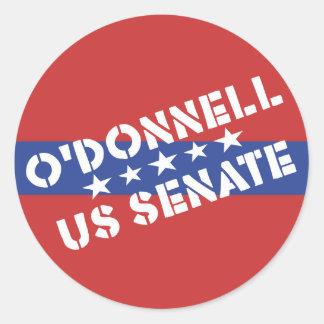 Christine O'Donnell para el senado de los E.E.U.U. Etiqueta Redonda