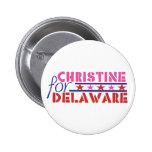 Christine O'Donnell para el senado de los E.E.U.U. Pins