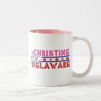 Christine O'Donnell para el senado de los E.E.U.U. Taza De Dos Tonos
