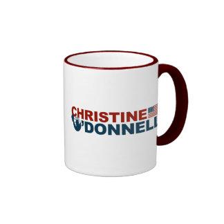 Christine O'Donnell para la libertad Taza De Dos Colores