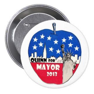 Christine Quinn para el alcalde de NYC en 2013 Pin Redondo De 3 Pulgadas